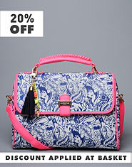 Pauls Boutique Paige Tattoo Print Satchel Bag