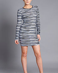 Ribbon Monochrome Wave Dress