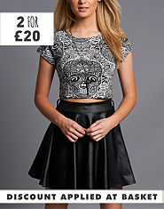 Ribbon Skull Crop Top