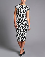 Ribbon Love Midi Dress