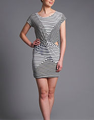 Glamorous Twist Front Striped Dress