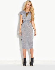 Glamorous Twist Front Midi Dress