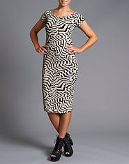 Ribbon Web Midi Dress
