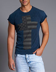 Irreverence Stars And Stripes Cross T-Shirt