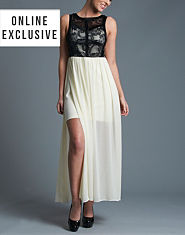 TFNC Lace Top Maxi Dress