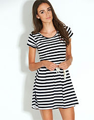 BLONDE & BLONDE Bird Stripe Dress