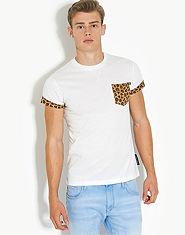 Criminal Damage Leopard Pocket T-Shirt