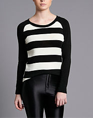 Wal G Monochrome Stripe Jumper