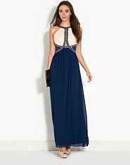 Little Mistress Jewel Two in One Maxi Dress