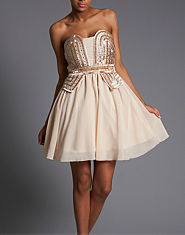 Little Mistress Sequin Corset Prom Dress