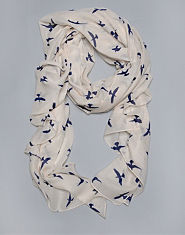 Bank Bird Print Scarf
