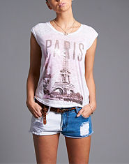 BLONDE & BLONDE Paris Print T-Shirt