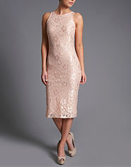 Ribbon Lace Midi Dress