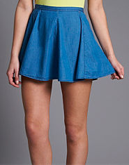BLONDE & BLONDE Denim Skater Skirt