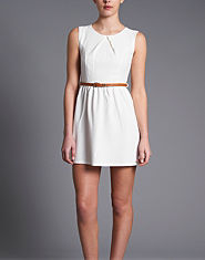Ribbon Textured Skater Dress