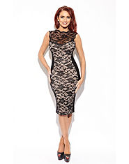 Amy Childs Sadie Lace Panel Dress