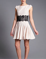 AX Paris Lace Waist Skater Skirt