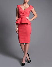 Paper Dolls Cross Over Peplum Dress