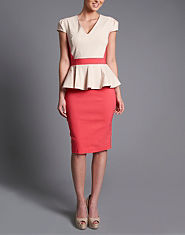 Paper Dolls Two in One Peplum Dress