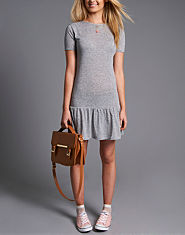 BLONDE & BLONDE Drop Hem Tea Dress