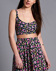 Ribbon Floral Co-ordinate Bralet Top