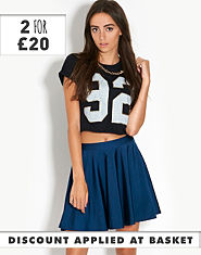 Ribbon Disco Skater Skirt