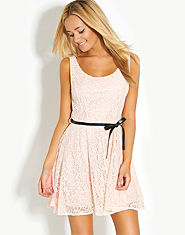 Wal G Lace Bow Back Dress
