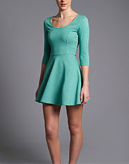 Wal G Jaquard Skater Dress
