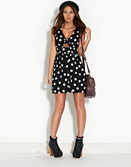Ribbon Spotty Peek A Boo Dress
