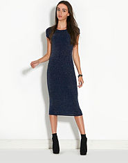 Ribbon Lurex Midi Dress