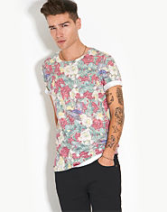 Outcast Flower and Bird T-Shirt