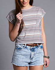 BellField Printed Crop Top