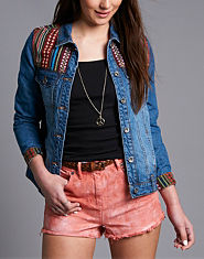 BellField Aztec Panel Denim Jacket