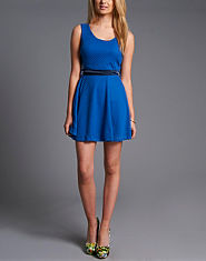 Wal G Textured Sleeveless Skater Dress