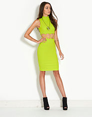 Renee Katie Criss Cross Roll Neck Dress