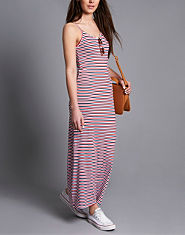Wal G Strappy Striped Maxi Dress