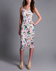Wal G Floral Bodycon Dress