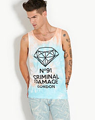 Criminal Damage Diamond Tie Dye Vest