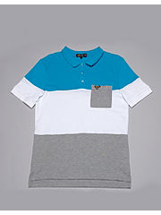Voi Jeans Block Stripe Polo Shirt
